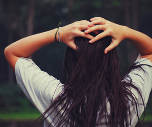 girl, hair, and hands image
