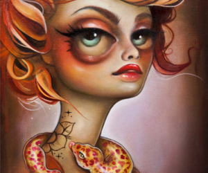 blue eyes, lowbrow art, and surrealismus image