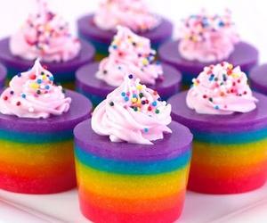 rainbow, food, and cupcake image