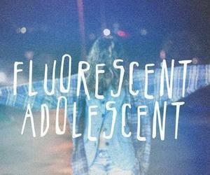 arctic monkeys, fluorescent adolescent, and adolescent image