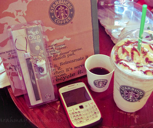 starbucks, blackberry, and coffee image
