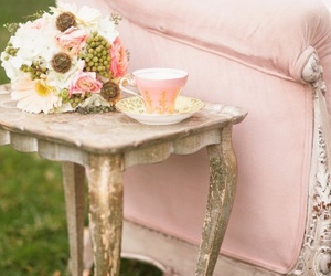 pink, vintage, and flowers image