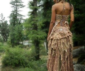 girl, hippie, and nature image