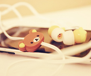 rilakkuma, bear, and iphone image