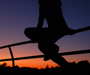 Cowgirl, sunset, and it's a country thang image