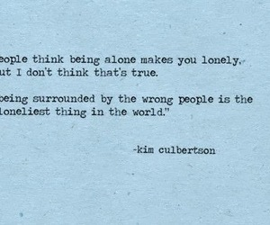 quotes, lonely, and alone image