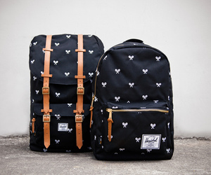 backpack, love them, and navy image