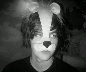 bear, mask, and blue eyes image
