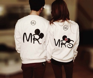 love, couple, and mrs image