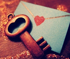 love, key, and heart image