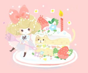 anime, cakes, and chibi image