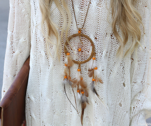 fashion, dreamcatcher, and blonde image