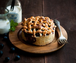 blueberry, pie, and rhubarb image