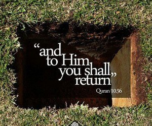allah, death, and quraan image