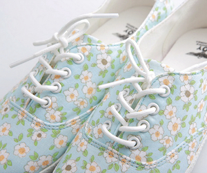 shoes, dlowers, and shoes cute fashion floral image