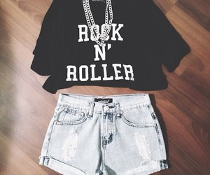 outfit, fashion, and rock image