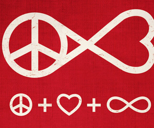love, peace, and forever image