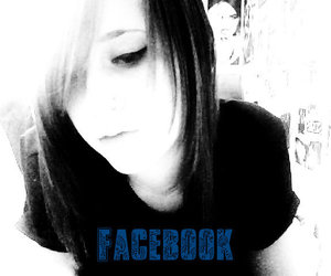black & white and facebook image