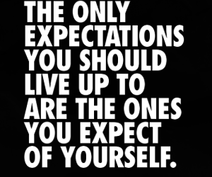 quote, motivation, and expectations image