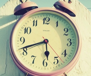 clock, pink, and photography image