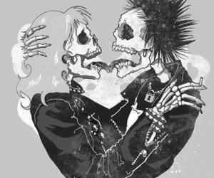 love, skull, and punk image