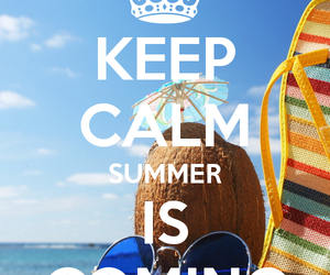 summer, keep calm, and beach image