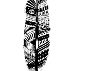 feather, black, and white image