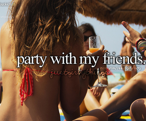 party, friends, and summer image