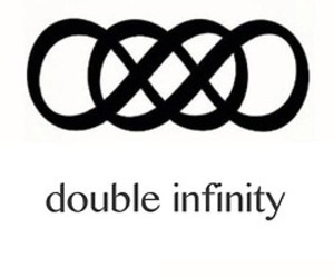infinity, double, and text image