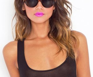 hair, sunglasses, and lips image
