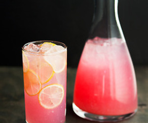 drink, pink, and lemon image