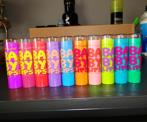 baby lips, lips, and colorful image