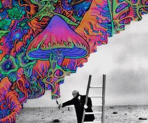 art, colors, and black and white image
