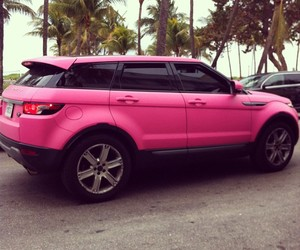 pink, car, and luxury image