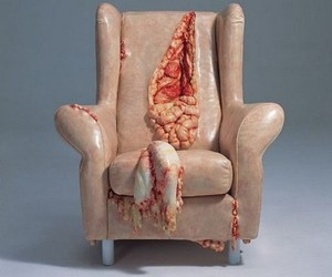 chair, guts, and art image