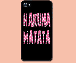 hakuna matata, iphone, and lion king image