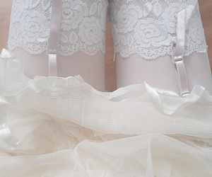 lace, pastel, and white image