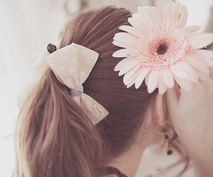 flowers, hair, and kawaii image