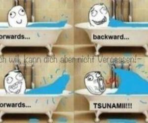 tsunami, funny, and lol image