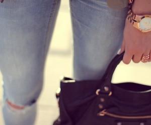bag, beautiful, and gold image
