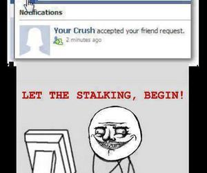 crush, facebook, and stalking image