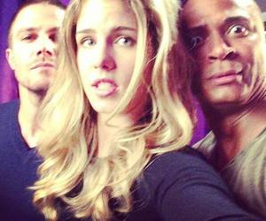 arrow, david ramsey, and stephen amell image