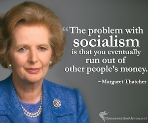 quote, socialism, and margaret thatcher image