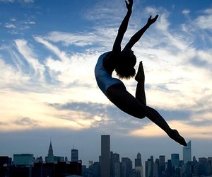 dance, ballet, and sky image