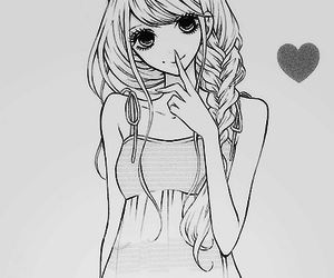 anime, girl, and manga image