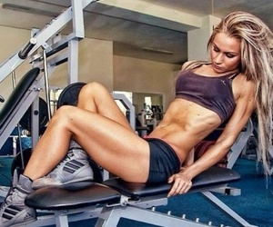 beauty, fitness, and girl image