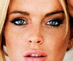 lindsay lohan, eyes, and blonde image