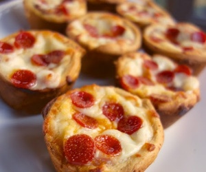 pizza, food, and cupcake image