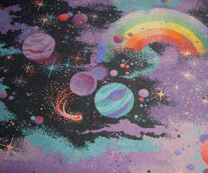 art, planet, and rainbow image