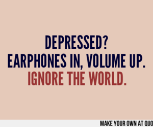 quote, depressed, and music image